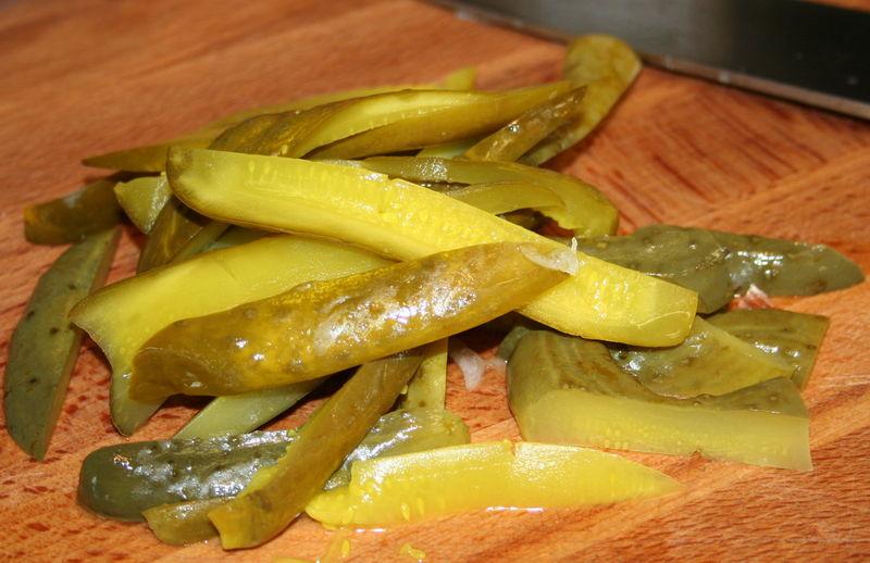 Pickles sliced