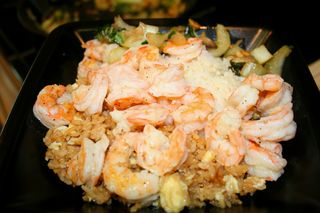 Shrimp bokchoy fried rice