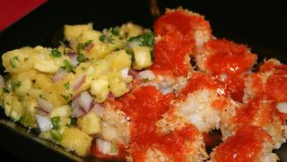 Shrimp and pineapple salsa