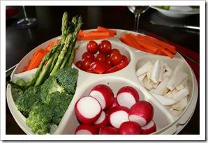 Fresh Veg Tray and Musing on Organic Food